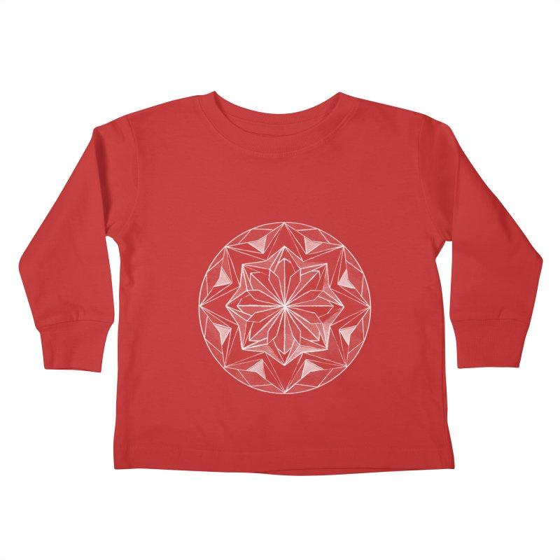 Kaleidoscope White Kids Toddler Longsleeve T-Shirt by Donal Mangan's Artist Shop