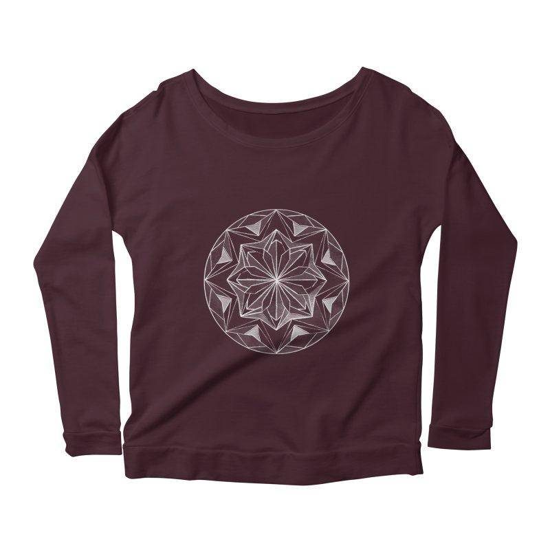 Kaleidoscope White Women's Scoop Neck Longsleeve T-Shirt by Donal Mangan's Artist Shop