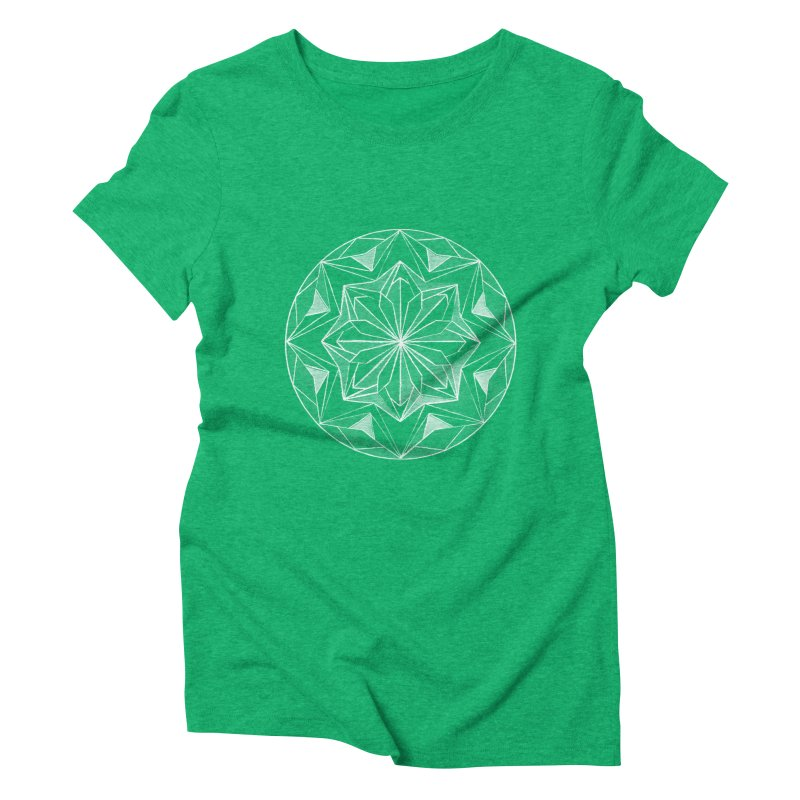 Kaleidoscope White Women's Triblend T-shirt by Donal Mangan's Artist Shop