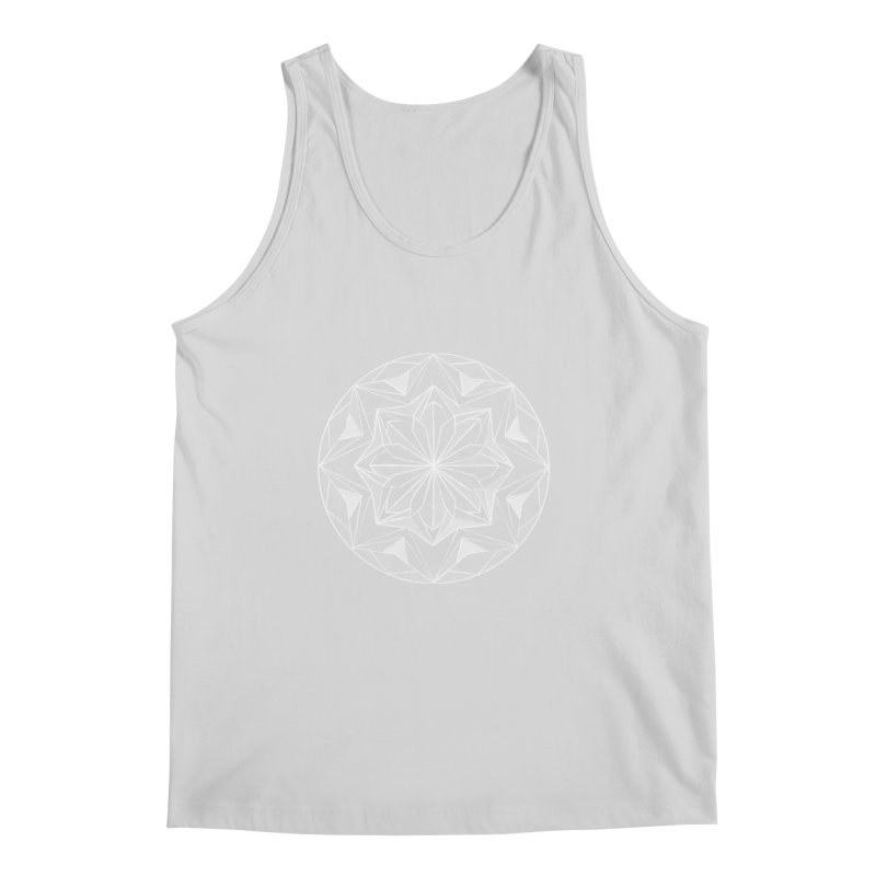 Kaleidoscope White Men's Regular Tank by Donal Mangan's Artist Shop
