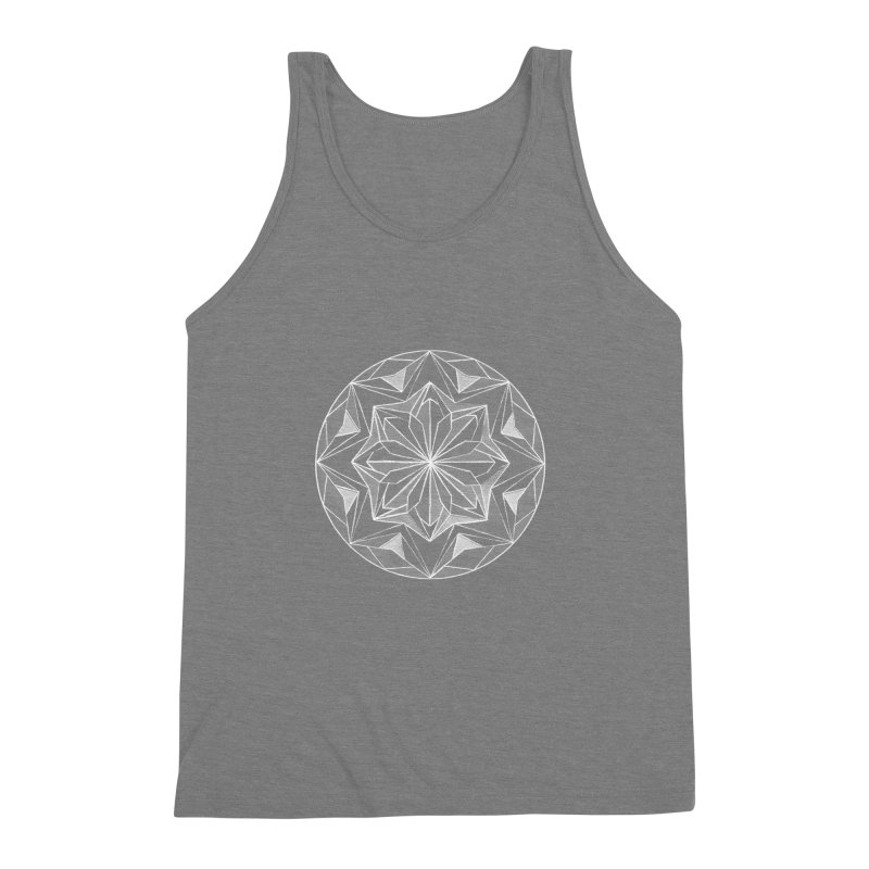 Kaleidoscope White Men's Triblend Tank by Donal Mangan's Artist Shop