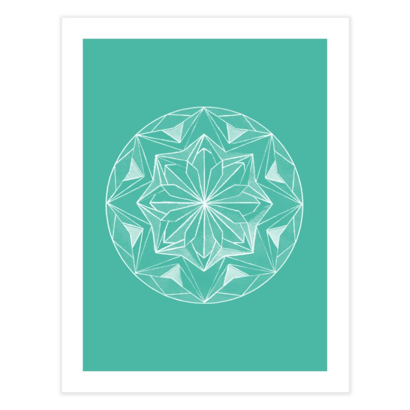 Kaleidoscope White Home Fine Art Print by Donal Mangan's Artist Shop