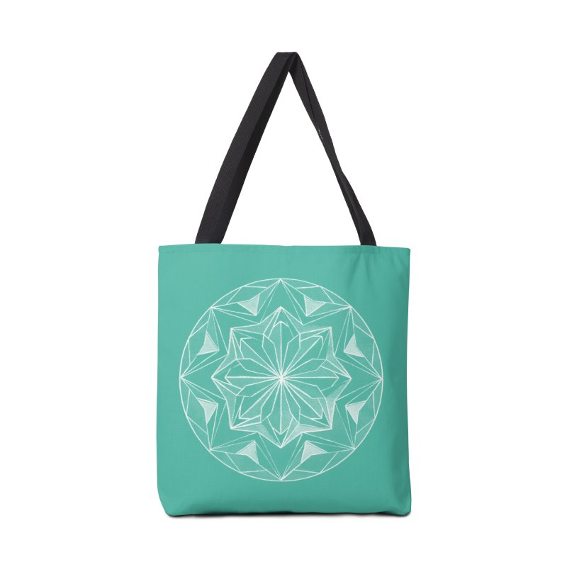 Kaleidoscope White Accessories Tote Bag Bag by Donal Mangan's Artist Shop