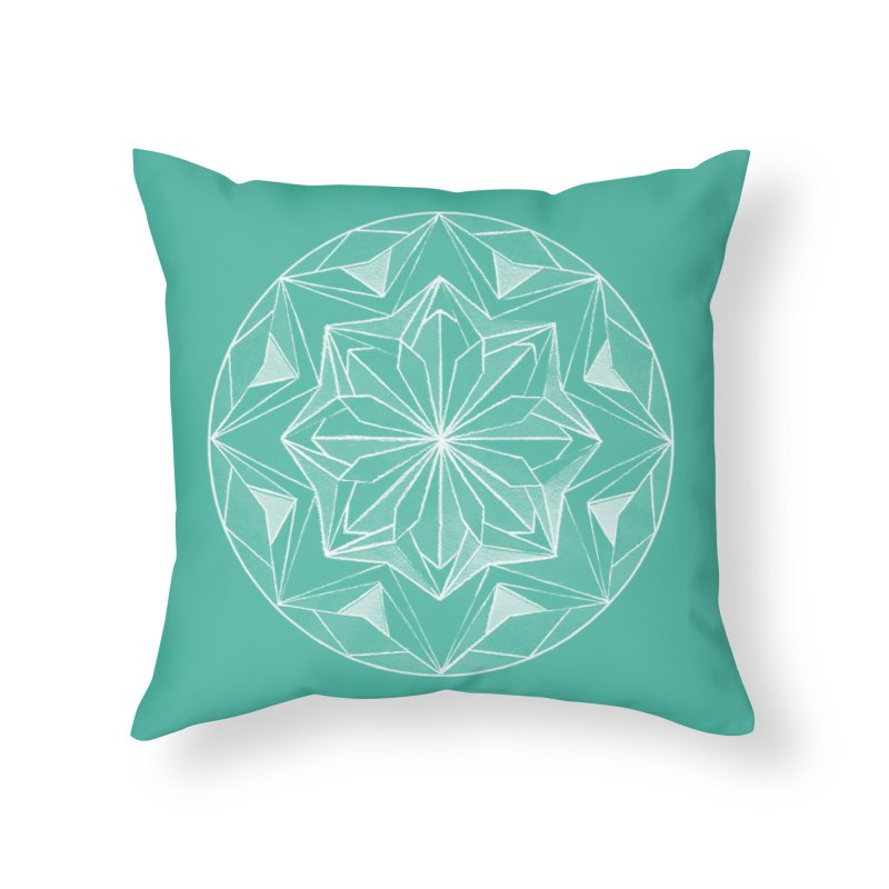 Kaleidoscope White Home Throw Pillow by Donal Mangan's Artist Shop