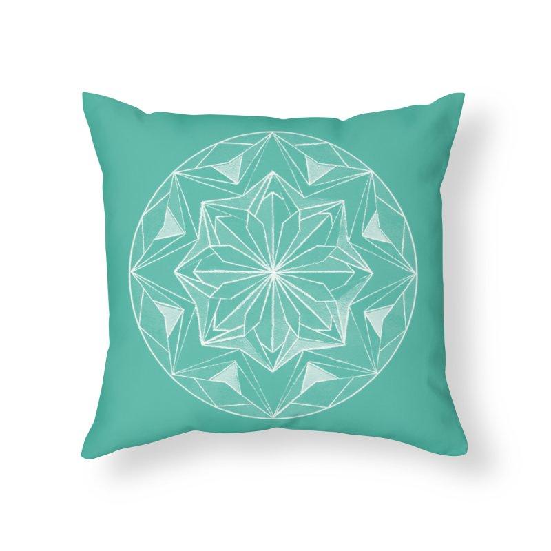 Kaleidoscope White Home Throw Pillow by Donal Mangan's Artist Shop