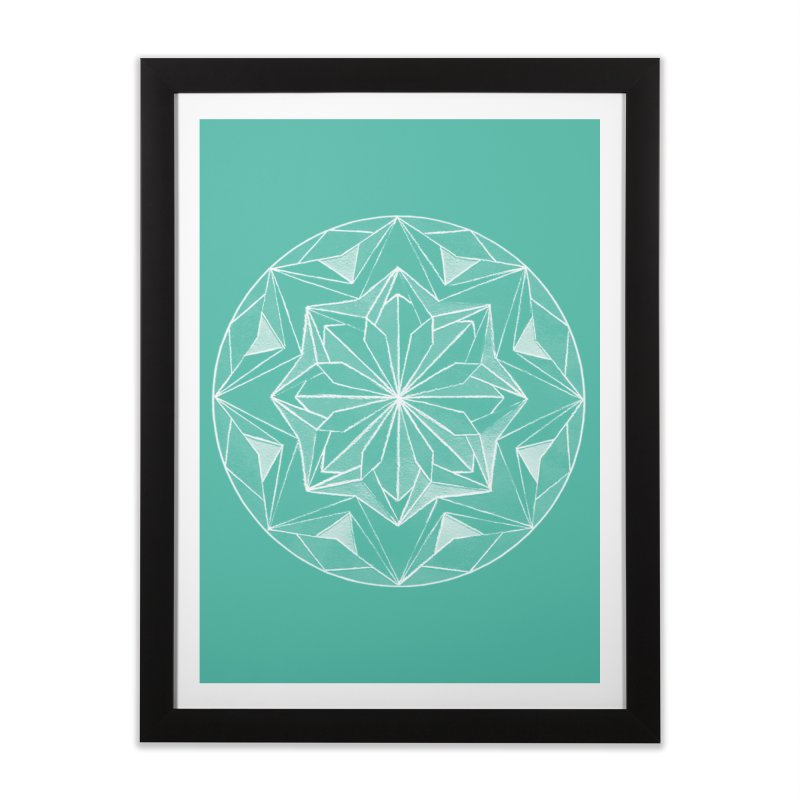 Kaleidoscope White Home Framed Fine Art Print by Donal Mangan's Artist Shop