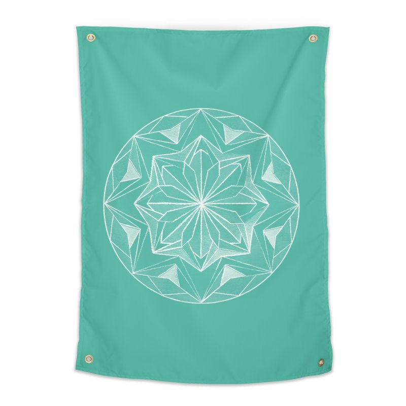 Kaleidoscope White Home Tapestry by Donal Mangan's Artist Shop