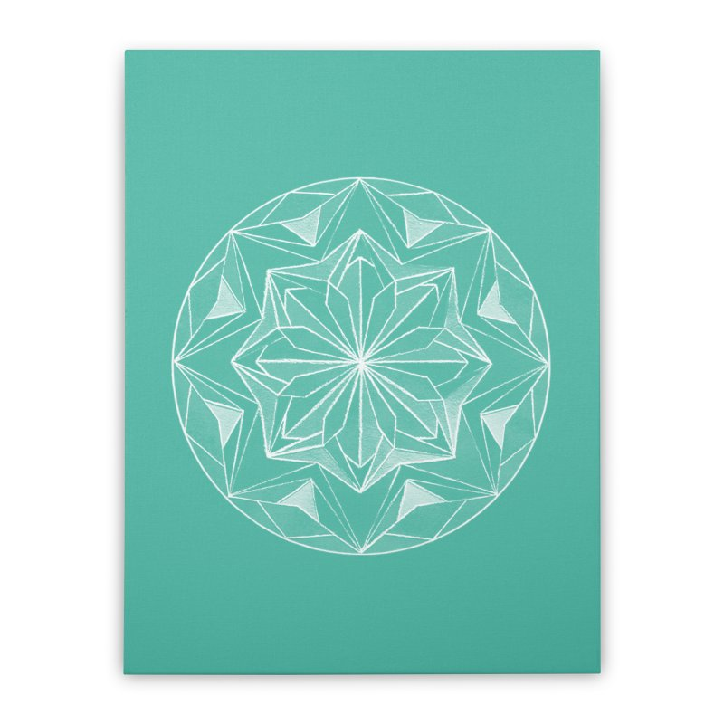 Kaleidoscope White Home Stretched Canvas by Donal Mangan's Artist Shop