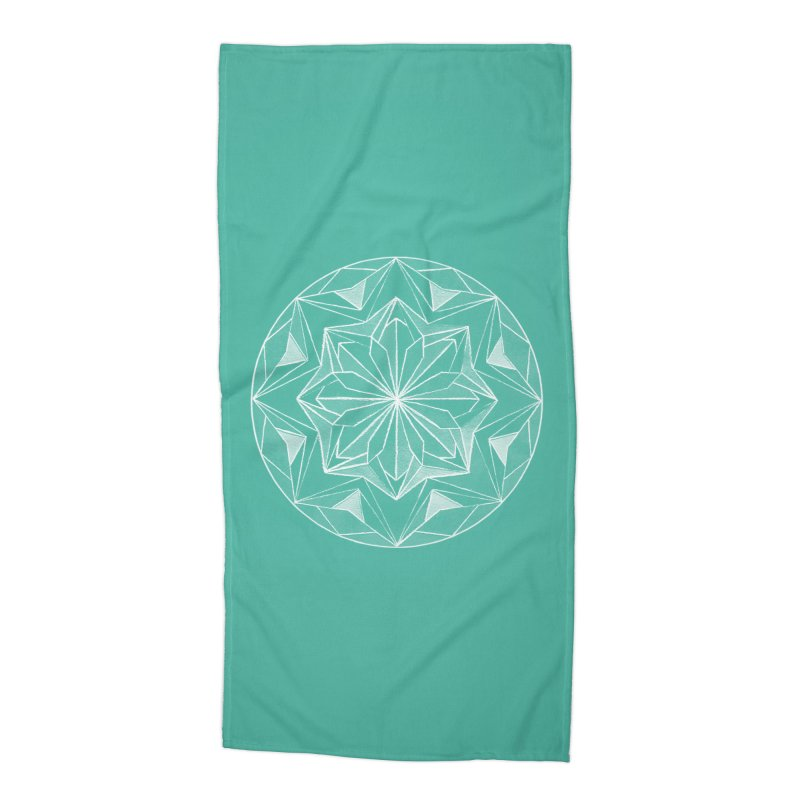 Kaleidoscope White Accessories Beach Towel by Donal Mangan's Artist Shop
