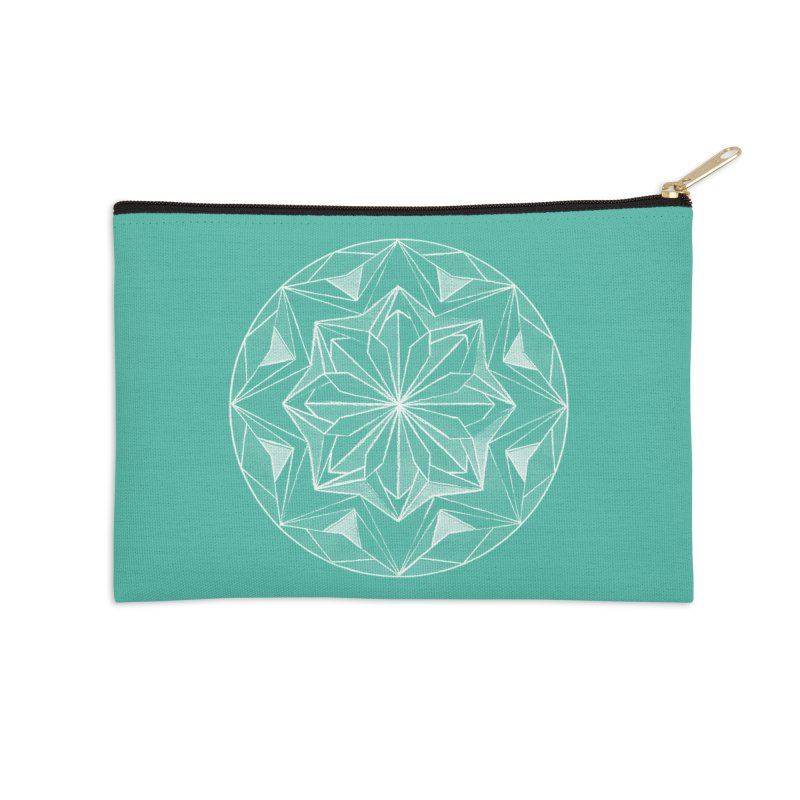 Kaleidoscope White Accessories Zip Pouch by Donal Mangan's Artist Shop