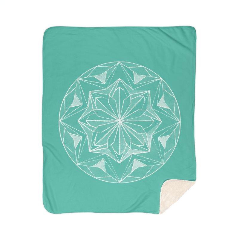 Kaleidoscope White Home Blanket by Donal Mangan's Artist Shop