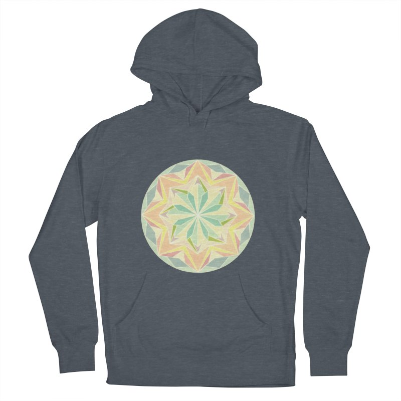 Kaleidoscope Colour Women's French Terry Pullover Hoody by Donal Mangan's Artist Shop