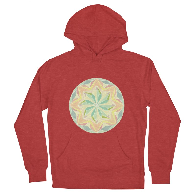 Kaleidoscope Colour Men's French Terry Pullover Hoody by Donal Mangan's Artist Shop