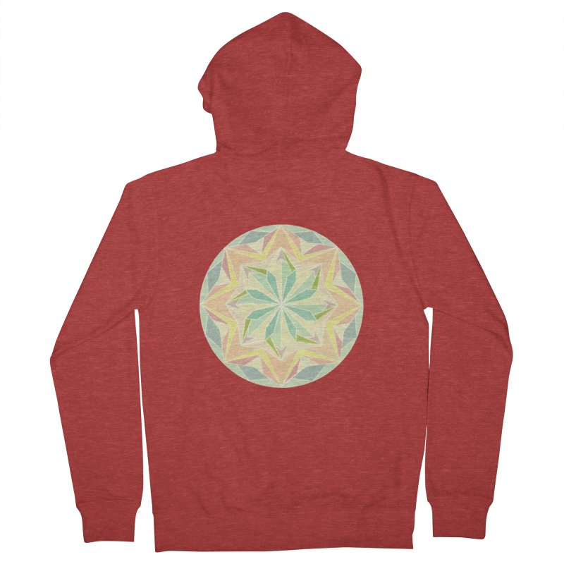 Kaleidoscope Colour Men's French Terry Zip-Up Hoody by Donal Mangan's Artist Shop