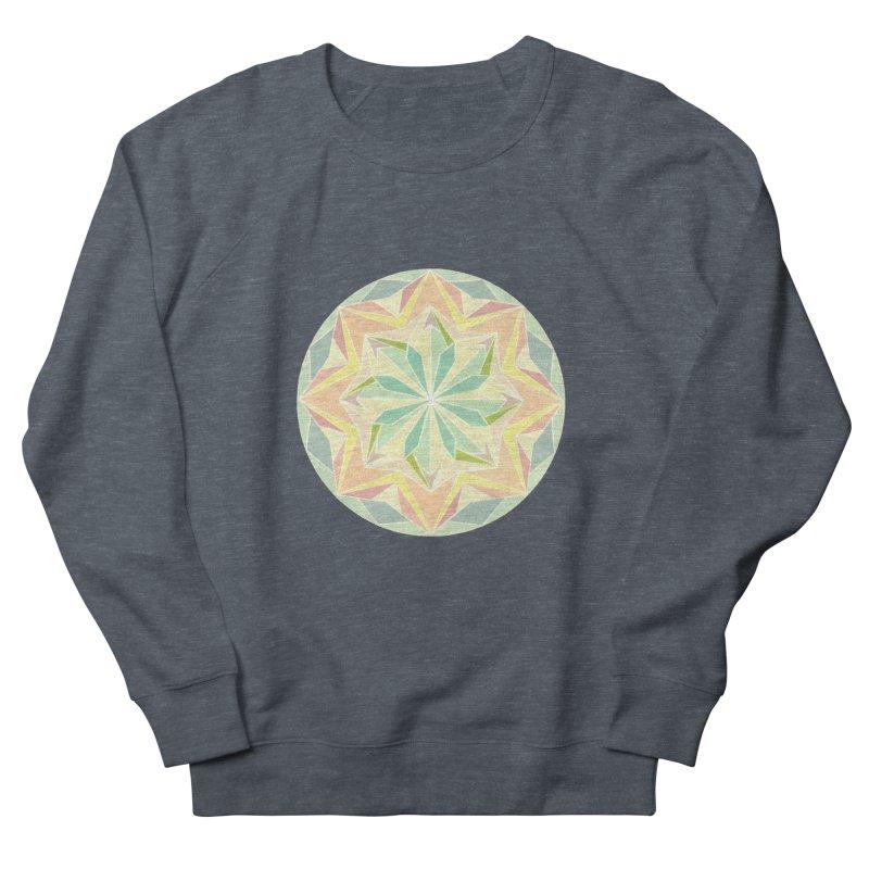 Kaleidoscope Colour Men's French Terry Sweatshirt by Donal Mangan's Artist Shop