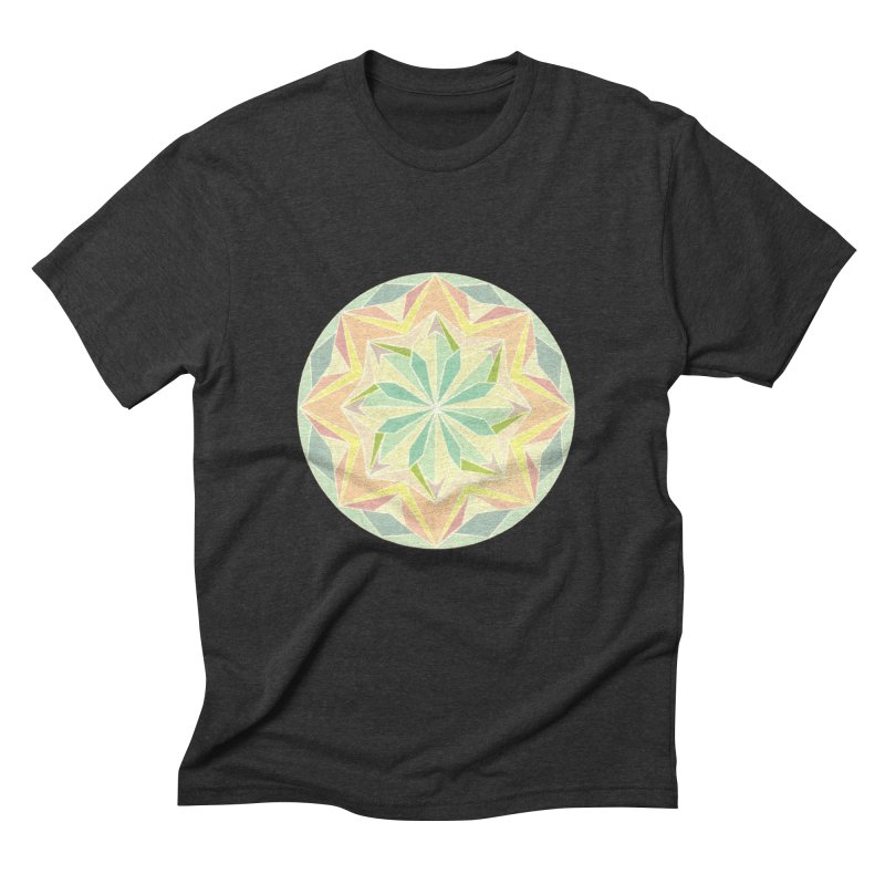 Kaleidoscope Colour Men's Triblend T-shirt by Donal Mangan's Artist Shop
