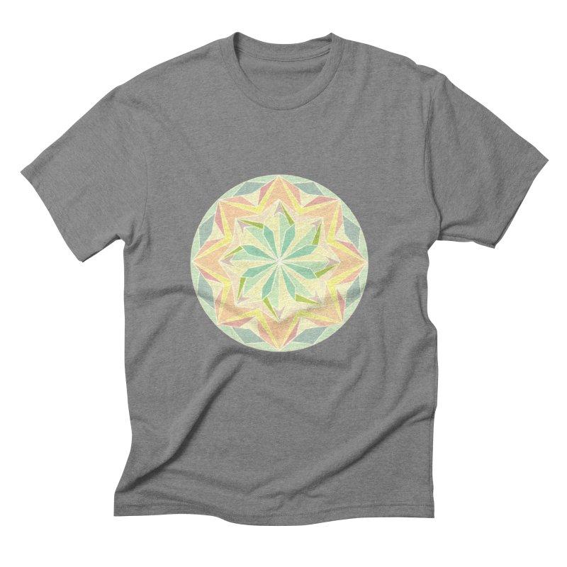 Kaleidoscope Colour Men's Triblend T-Shirt by Donal Mangan's Artist Shop
