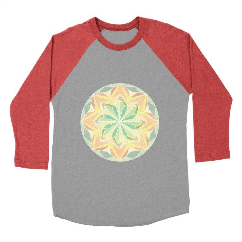 Kaleidoscope Colour Women's Baseball Triblend T-Shirt by Donal Mangan's Artist Shop