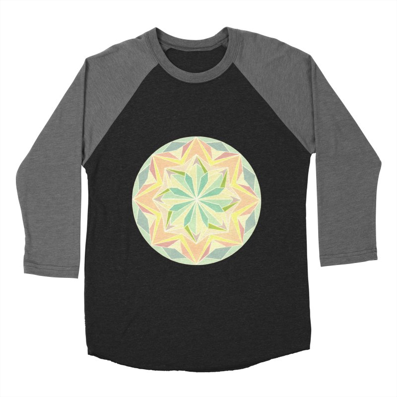 Kaleidoscope Colour Men's Baseball Triblend Longsleeve T-Shirt by Donal Mangan's Artist Shop