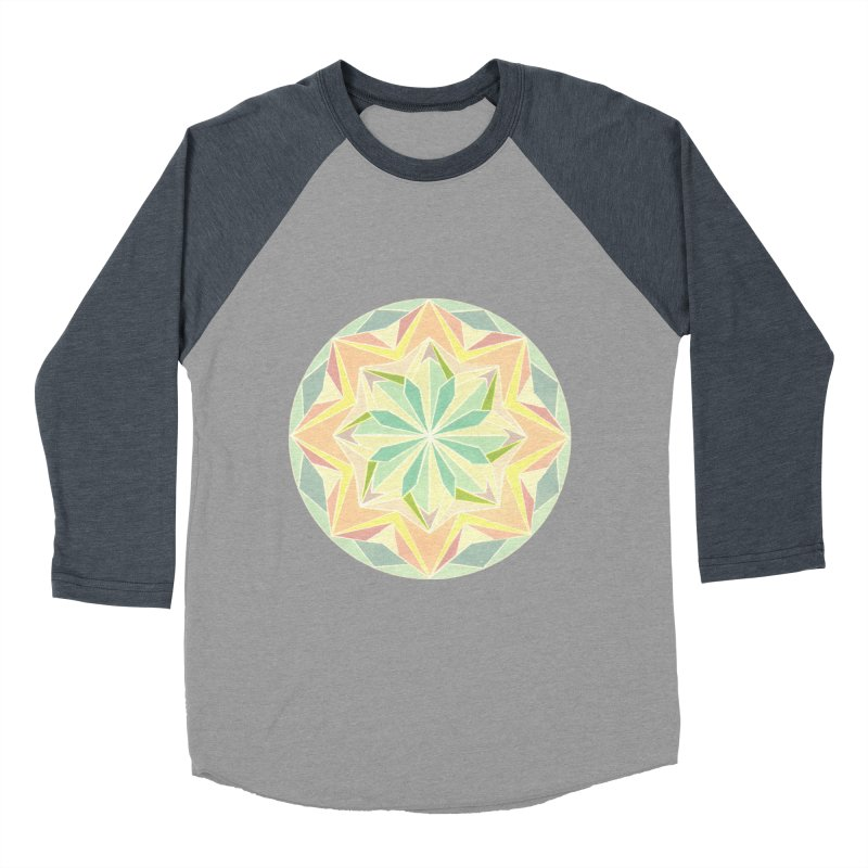 Kaleidoscope Colour Men's Baseball Triblend T-Shirt by Donal Mangan's Artist Shop