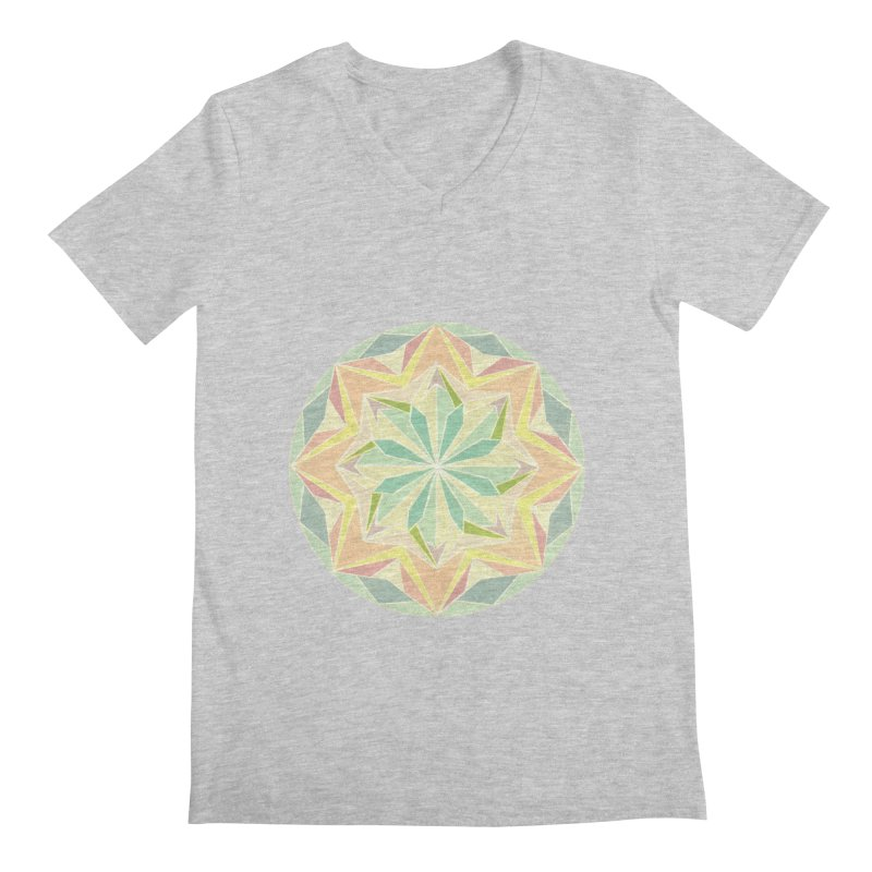 Kaleidoscope Colour Men's V-Neck by Donal Mangan's Artist Shop