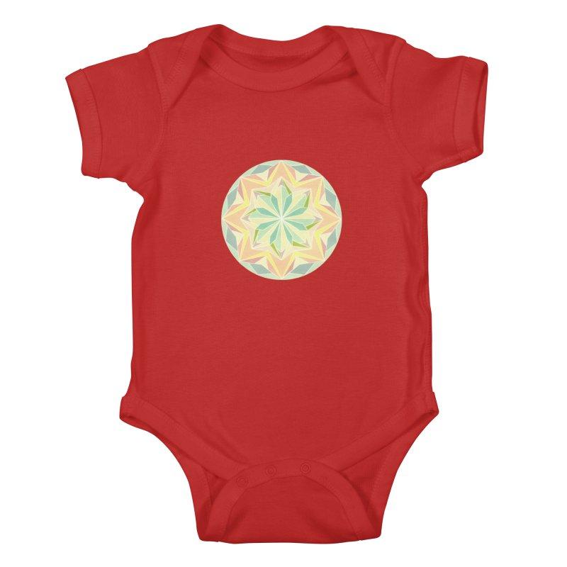 Kaleidoscope Colour Kids Baby Bodysuit by Donal Mangan's Artist Shop