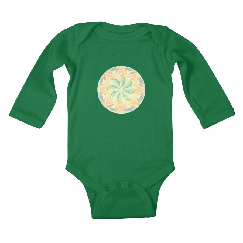 Kaleidoscope Colour Kids Baby Longsleeve Bodysuit by Donal Mangan's Artist Shop