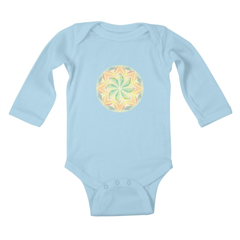 Kaleidoscope Colour Kids Baby Longsleeve Bodysuit by Donal Mangan's Artist Shop