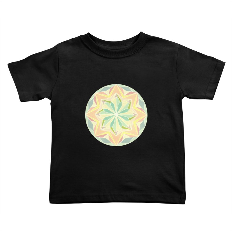 Kaleidoscope Colour Kids Toddler T-Shirt by Donal Mangan's Artist Shop