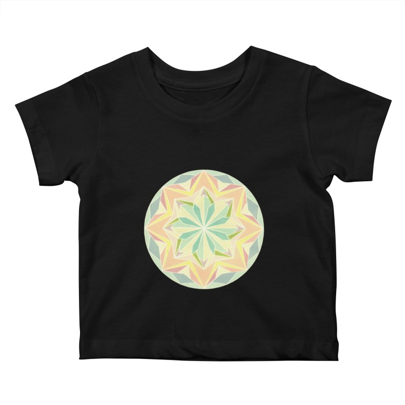 Kaleidoscope Colour Kids Baby T-Shirt by Donal Mangan's Artist Shop
