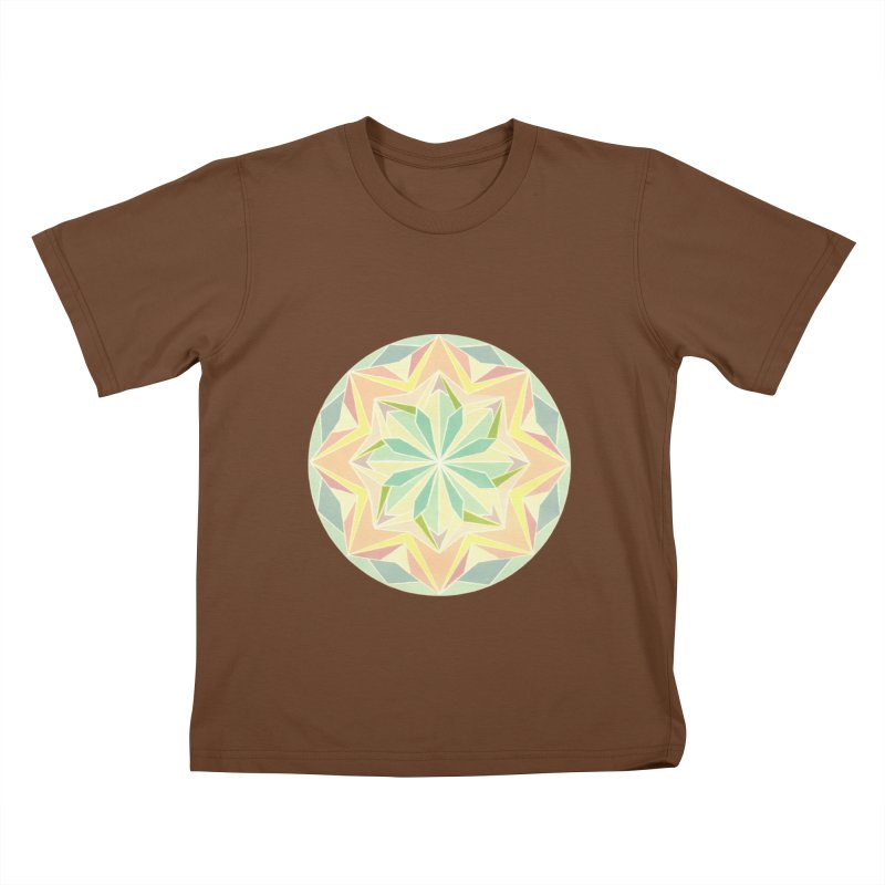 Kaleidoscope Colour Kids T-Shirt by Donal Mangan's Artist Shop