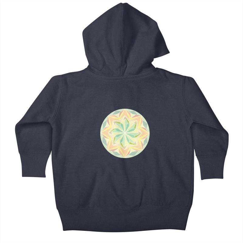 Kaleidoscope Colour Kids Baby Zip-Up Hoody by Donal Mangan's Artist Shop