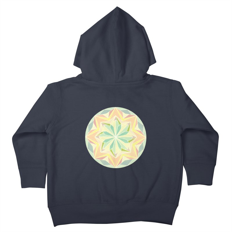 Kaleidoscope Colour Kids Toddler Zip-Up Hoody by Donal Mangan's Artist Shop