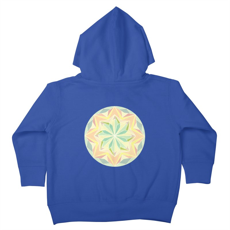 Kaleidoscope Colour Kids Toddler Zip-Up Hoody by Donal Mangan's Artist Shop