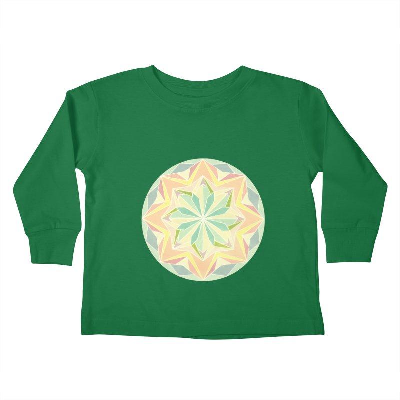 Kaleidoscope Colour Kids Toddler Longsleeve T-Shirt by Donal Mangan's Artist Shop