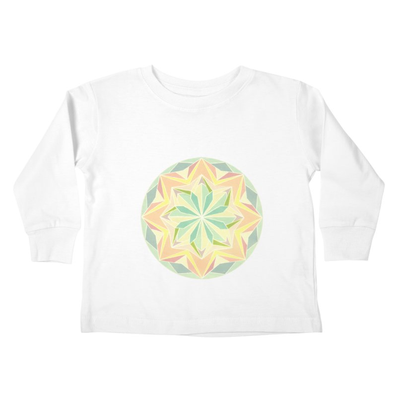 Kaleidoscope Colour Kids Toddler Longsleeve T-Shirt by Donal Mangan's Artist Shop