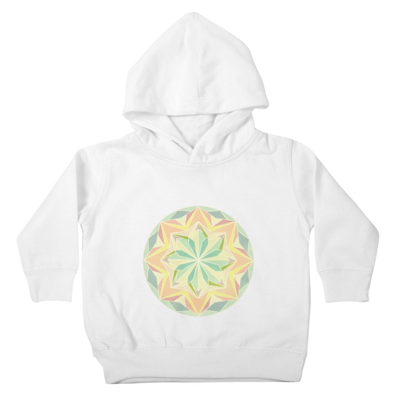 Kaleidoscope Colour Kids Toddler Pullover Hoody by Donal Mangan's Artist Shop