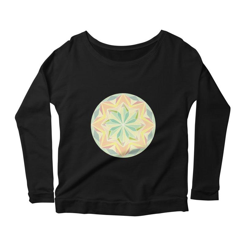 Kaleidoscope Colour Women's Scoop Neck Longsleeve T-Shirt by Donal Mangan's Artist Shop