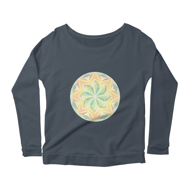 Kaleidoscope Colour Women's Scoop Neck Longsleeve T-Shirt by Donal Mangan's Artist Shop
