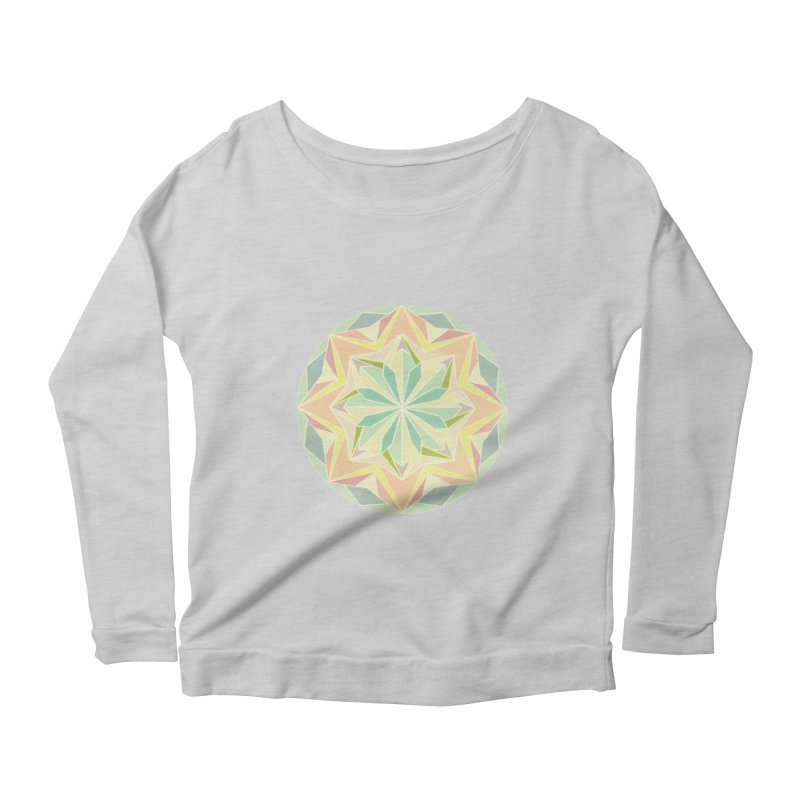 Kaleidoscope Colour Women's Longsleeve Scoopneck  by Donal Mangan's Artist Shop