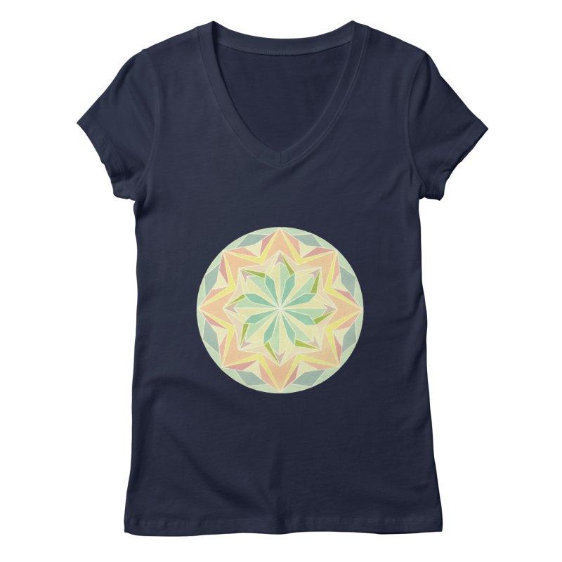 Kaleidoscope Colour Women's V-Neck by Donal Mangan's Artist Shop