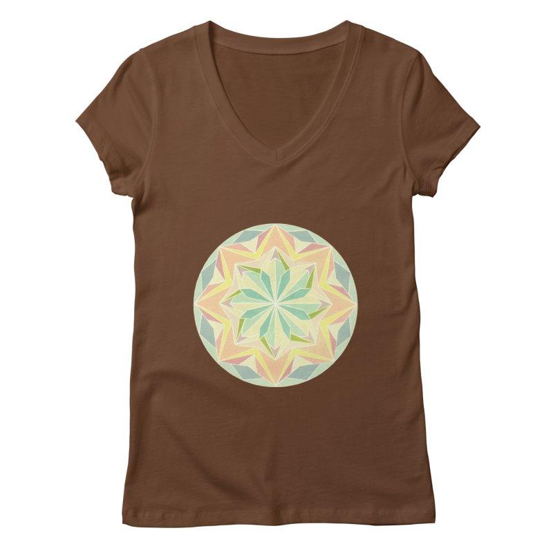 Kaleidoscope Colour Women's Regular V-Neck by Donal Mangan's Artist Shop