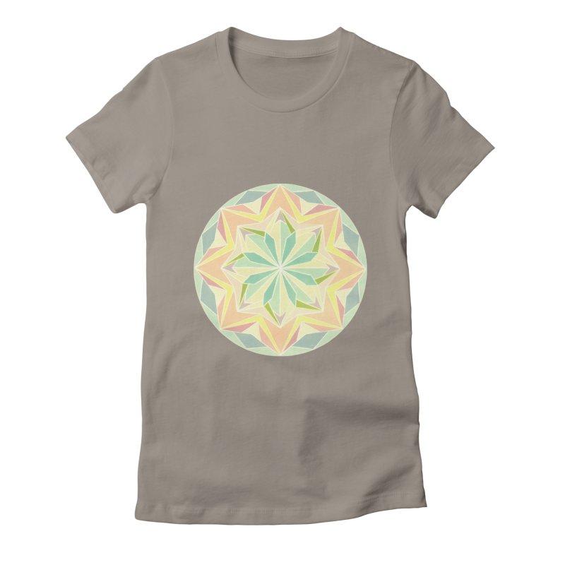 Kaleidoscope Colour Women's Fitted T-Shirt by Donal Mangan's Artist Shop