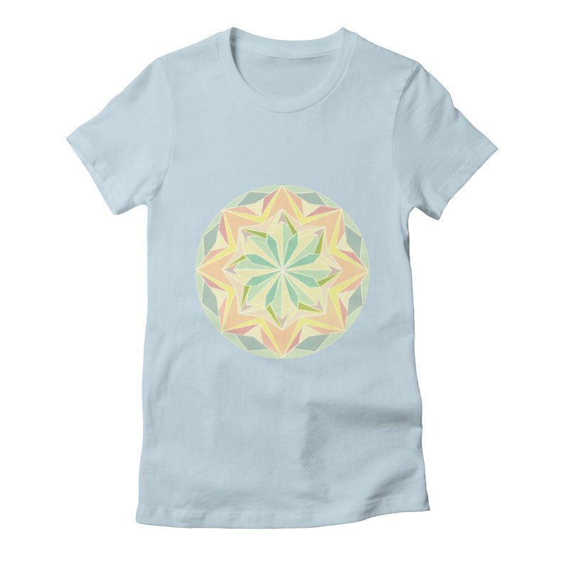 Kaleidoscope Colour Women's Fitted T-Shirt by Donal Mangan's Artist Shop