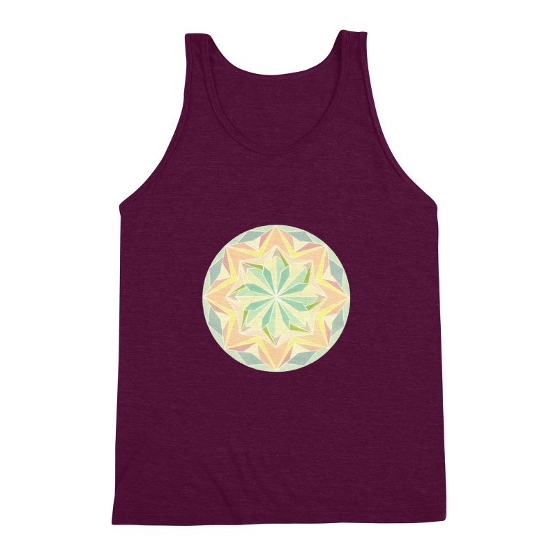 Kaleidoscope Colour Men's Triblend Tank by Donal Mangan's Artist Shop