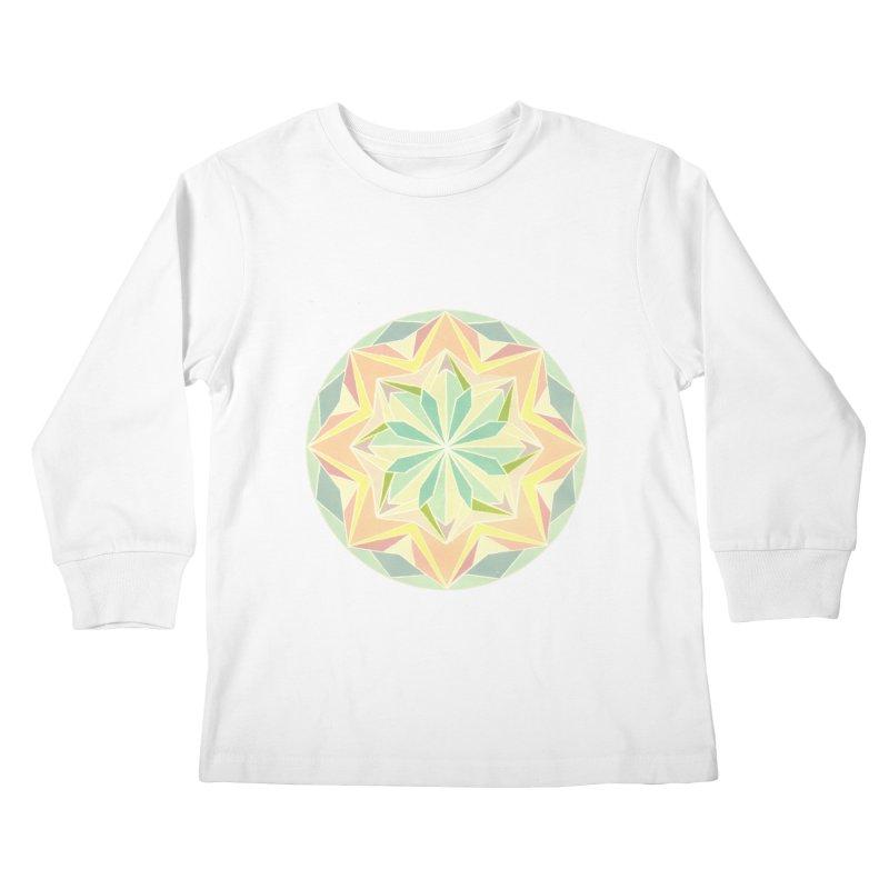 Kaleidoscope Colour Kids Longsleeve T-Shirt by Donal Mangan's Artist Shop