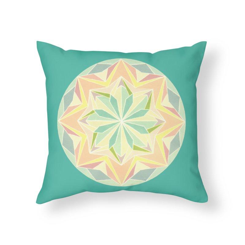 Kaleidoscope Colour Home Throw Pillow by Donal Mangan's Artist Shop