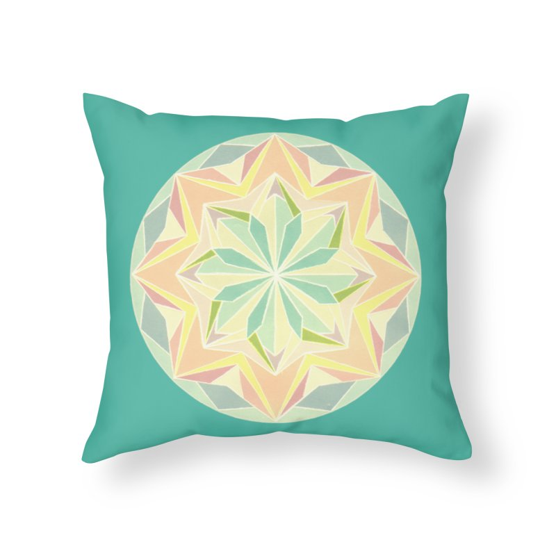 Kaleidoscope Colour Home Throw Pillow by Donal Mangan's Artist Shop