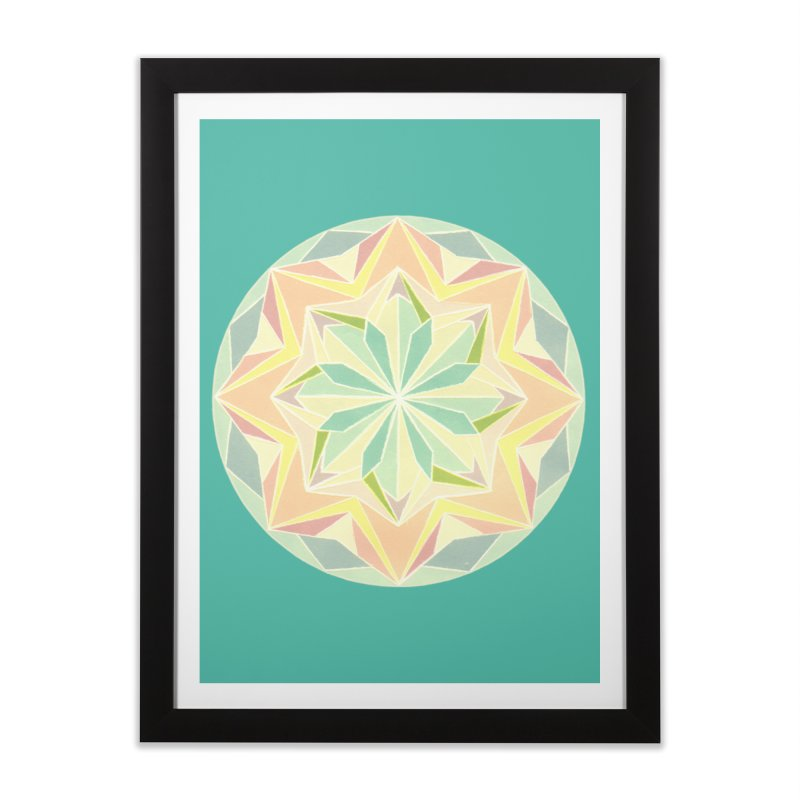 Kaleidoscope Colour Home Framed Fine Art Print by Donal Mangan's Artist Shop