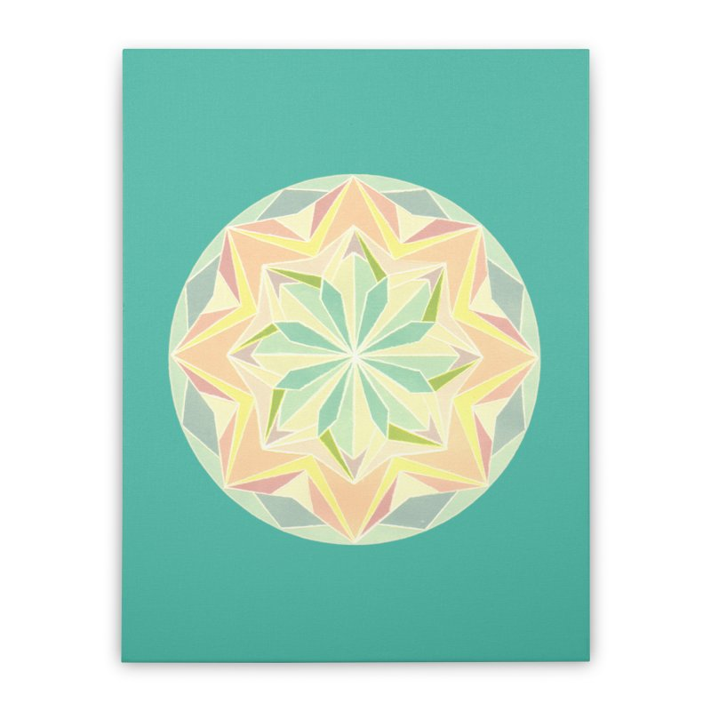 Kaleidoscope Colour Home Stretched Canvas by Donal Mangan's Artist Shop